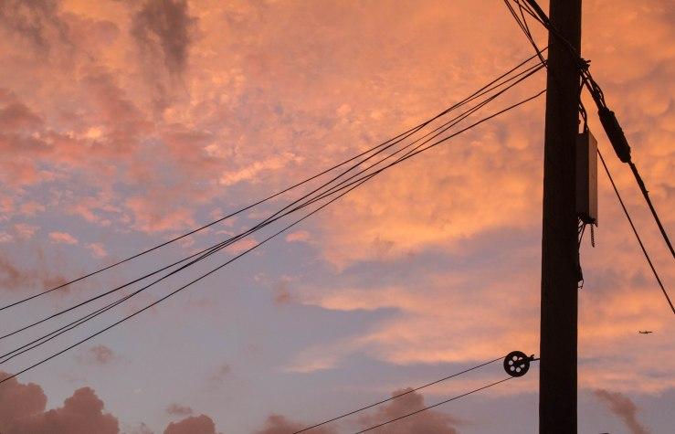 blue sky breaks through clouds