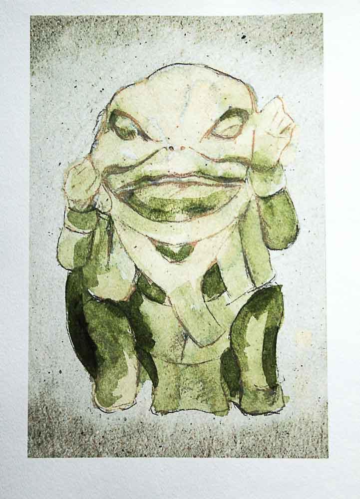 green frog deity