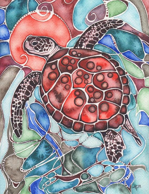 tamara philips red turtle