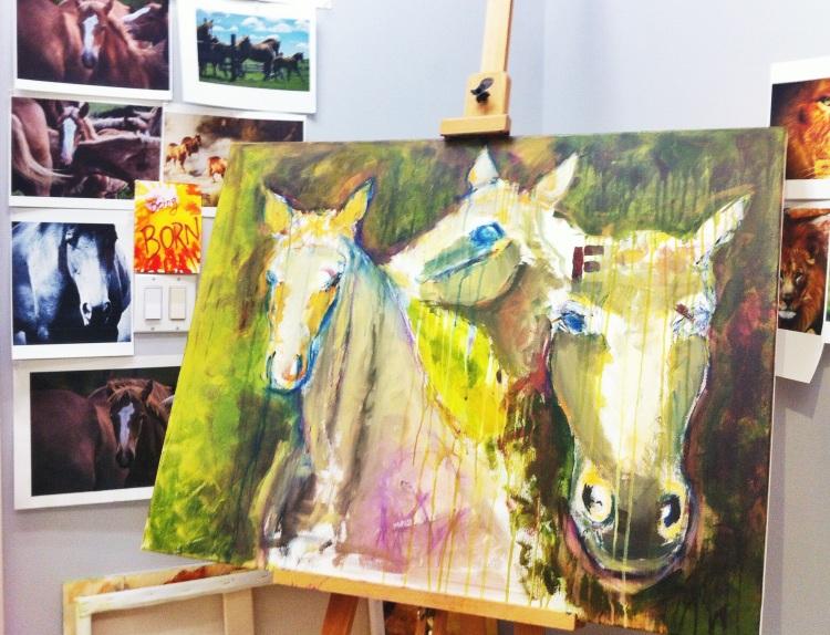 begin horse pntg
