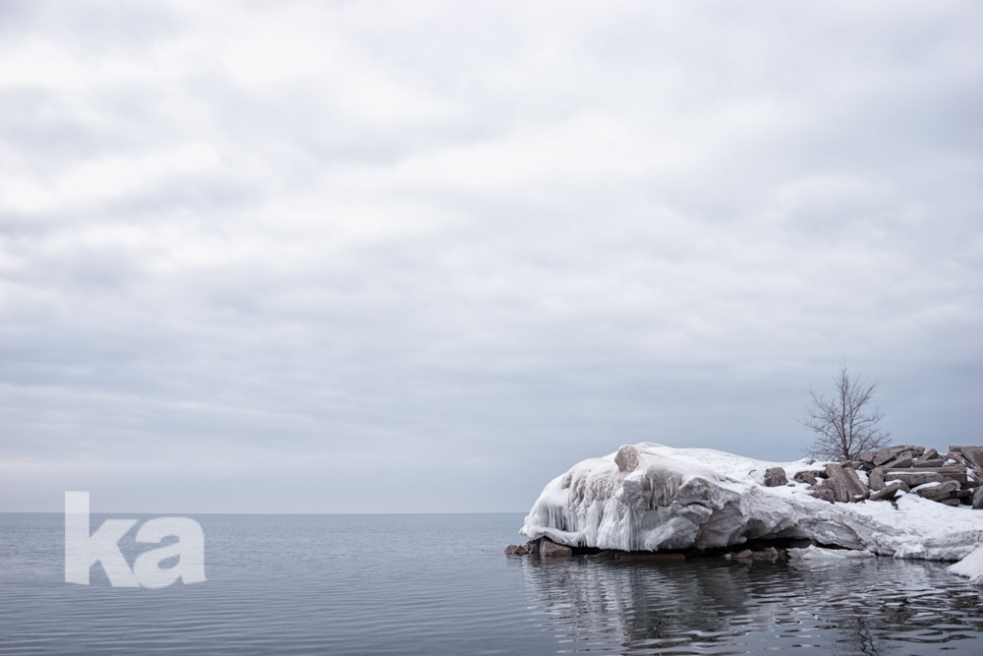 ice, beaches in march 5