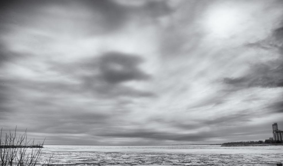 floating ice georgian bay