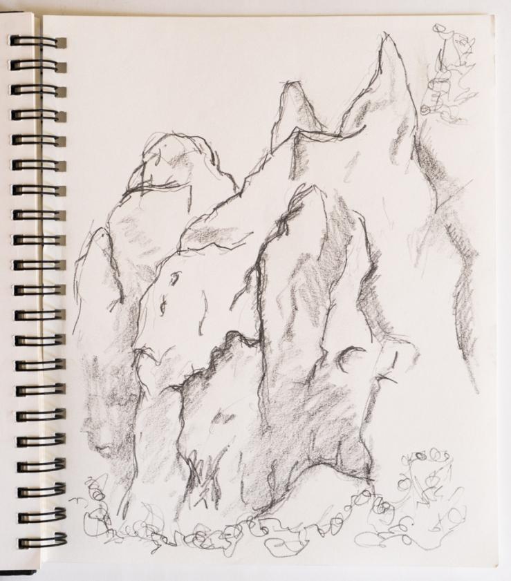 hoodoos drawing