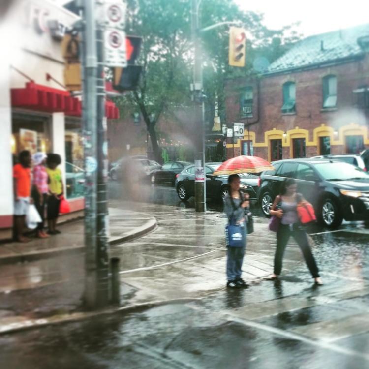 rainy puddles